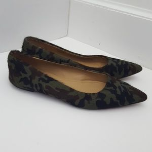 Ugg collection camouflage leather flats size 9.5